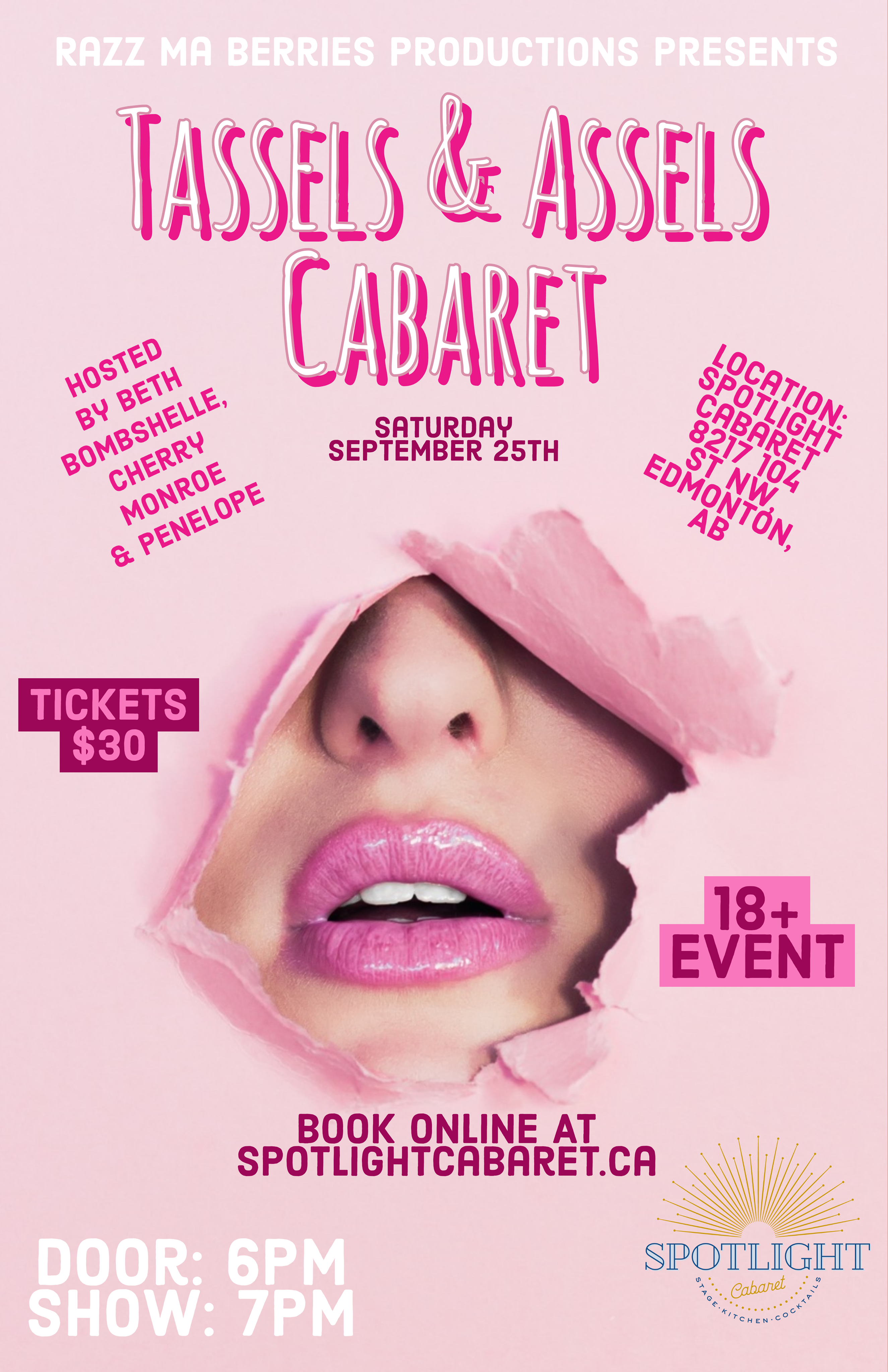 SOLD OUT - Raz Ma Berries Presents: Tassels and Assels Cabaret