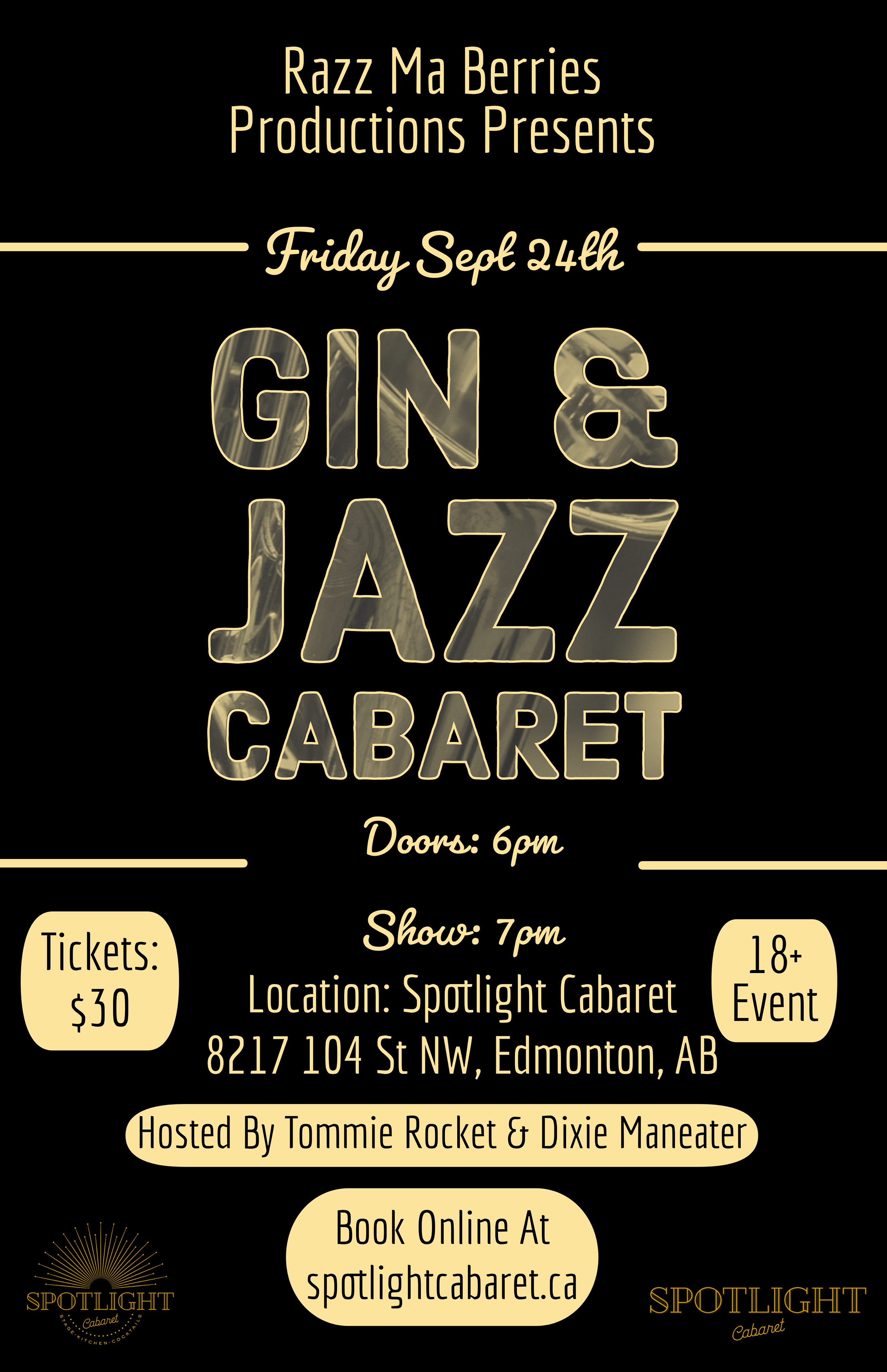 SOLD OUT - Raz Ma Berries Presents: Gin and Jazz Cabaret